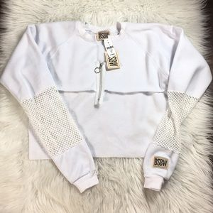 LF | Cropped White Sweater